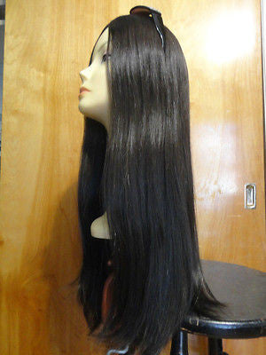 "European Multidirectional 27"" Straight Dark Brown #4 CAP SIZE L AND XL ONLY - wigs, Women's Wigs - kosher, Malky - Malky Wigs"