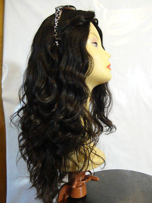 "European Multidirectional 22"" Wavy Darkest Brown #1B - wigs, Women's Wigs - kosher, Malky Wigs - Malky Wigs"