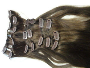 "Malky's Human European Hair Extensions, 16"" Long, Clip In, 7 Piece Set - wigs, Women's Wigs - kosher, Malky Wigs - Malky Wigs"