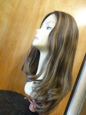 "European Multidirectional 22"" Straight Medium Brown with Highlights #6/8/10 - wigs, Women's Wigs - kosher, Malky Wigs - Malky Wigs"