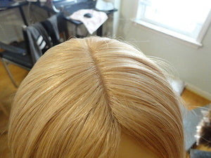 "European Multidirectional 16"" Straight Blonde with Highlights #24/14/12 - wigs, Women's Wigs - kosher, Malky Wigs - Malky Wigs"