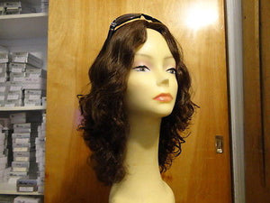 "European Multidirectional 16"" Wavy Brown with Highlights - wigs, Women's Wigs - kosher, Malky Wigs - Malky Wigs"