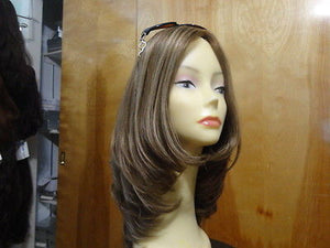 "European Multidirectional 16"" Straight Light Brown with Highlight #14/8 - wigs, Women's Wigs - kosher, Malky Wigs - Malky Wigs"