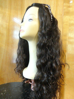 "European Multidirectional 26"" Wavy Soft Black/Brown - wigs, Women's Wigs - kosher, Malky Wigs - Malky Wigs"