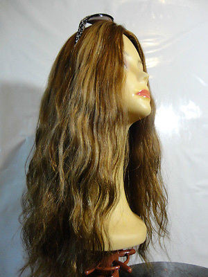 "European Multidirectional 22"" Wavy Medium Blond with Highlights #14/8 - wigs, Women's Wigs - kosher, Malky Wigs - Malky Wigs"