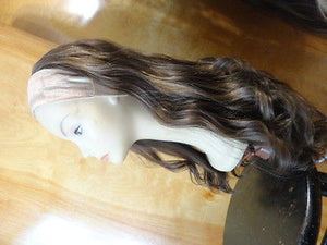 "European BandFall 26"" Medium Light Brown Highlights #10/6/8 - wigs, Women's Wigs - kosher, Malky Wigs - Malky Wigs"