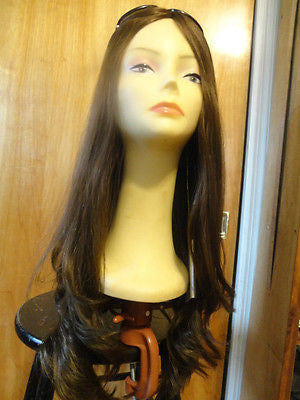 "European Multidirectional 26"" Straight Medium Brown #6 - wigs, Women's Wigs - kosher, Malky Wigs - Malky Wigs"