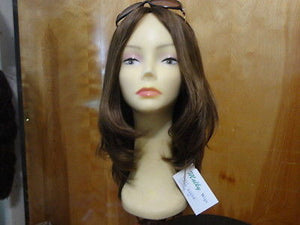 "European Multidirectional 16"" Straight Medium Brown #10/6/8 - wigs, Women's Wigs - kosher, Malky Wigs - Malky Wigs"