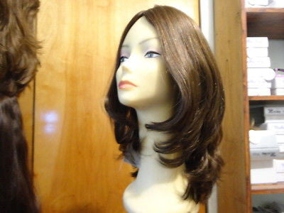 "European Multidirectional 16"" Straight Brown with Highlights #8/4 - wigs, Women's Wigs - kosher, Malky - Malky Wigs"
