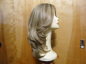 "European Multidirectional 16"" Straight Light Brown with Highlights #16/10 - wigs, Women's Wigs - kosher, Malky Wigs - Malky Wigs"