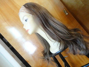 "European BandFall 26"" Light Brown with Highlights #14/8 - wigs, Women's Wigs - kosher, Malky Wigs - Malky Wigs"