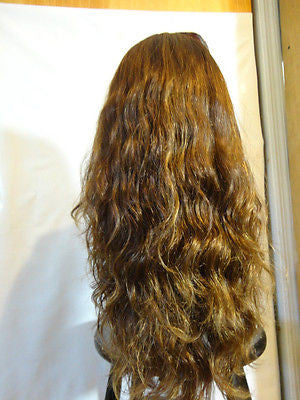 "European Multidirectional 22"" Wavy Medium Brown with Highlights #10/6/8 - wigs, Women's Wigs - kosher, Malky Wigs - Malky Wigs"