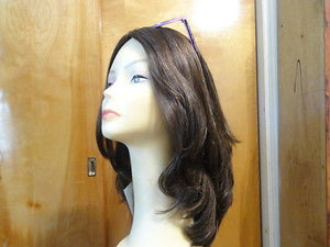 "European Multidirectional 16"" Straight Medium Brown #8/4 - wigs, Women's Wigs - kosher, Malky Wigs - Malky Wigs"