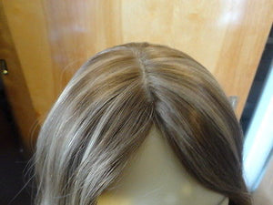 "European Multidirectional 16"" Straight Light Brown with Highlights #14/8 - wigs, Women's Wigs - kosher, Malky Wigs - Malky Wigs"
