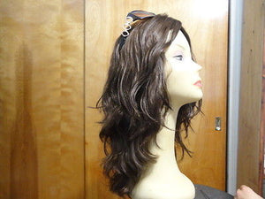 "European Multidirectional 16"" Wavy Medium Brown #8/4 - wigs, Women's Wigs - kosher, Malky Wigs - Malky Wigs"
