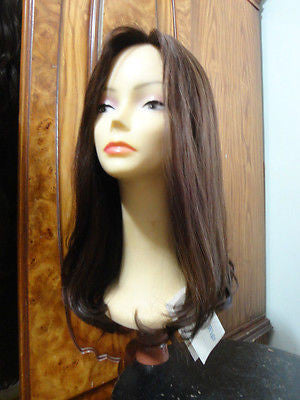 Remy Human Hair Dark Brown #8/4 wefted thicker - wigs, Women's Wigs - kosher, Malky - Malky Wigs
