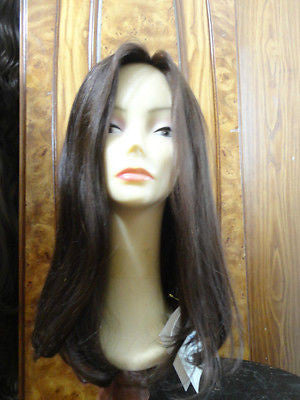 Remy Human Hair Dark Brown #8/4 wefted thicker - wigs, Women's Wigs - kosher, Malky Wigs - Malky Wigs