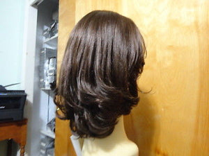 Remy Human Hair Medium Brown with Highlights #8/4 - wigs, Women's Wigs - kosher, Malky Wigs - Malky Wigs