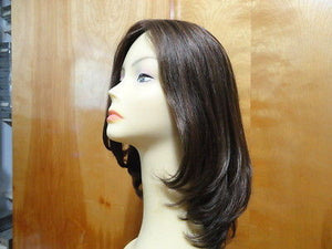"European Multidirectional 16"" Straight Medium Brown with Highlights precut - wigs, Women's Wigs - kosher, Malky Wigs - Malky Wigs"
