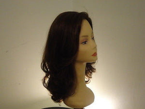 Remy Human Hair Wig Darkest Brown with Highlights #4 - wigs, Women's Wigs - kosher, Malky Wigs - Malky Wigs
