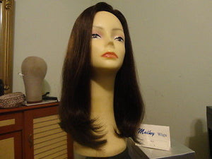 Remy Human Hair Medium Brown with Highlights #8/6 - wigs, Women's Wigs - kosher, Malky Wigs - Malky Wigs