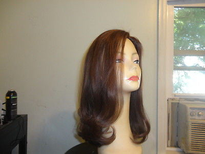 Remy Human Hair Medium Brown with Highlights #8-6 - wigs, Women's Wigs - kosher, Malky Wigs - Malky Wigs