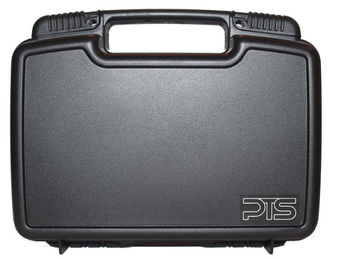 Single Pistol Case - Premium Hard Plastic Gun Cases - Fits Full Size Handgun - Great for Transport in Car - Fits most Glock, Smith and Wesson (S&W), Ruger, Colt, Beretta (Case Without Cable Lock)