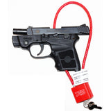 "Cable Gun Lock with Key (15"") - Keyed Alike - Universal Safety Device - Secures Pistol, Rifle, Shotgun, Revolver, and Other Firearm Types"