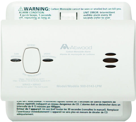 Atwood Battery-Operated Carbon Dioxide Alarm