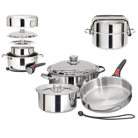 Magma Nestable 7-Piece Induction Compatible Cookware- Stainless Steel