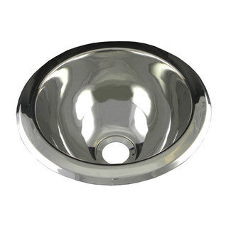 Round Stainless Steel Bathroom Sink