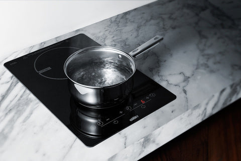 Summit Two Burner Built-in Smooth Top Induction Cooktop, 115V