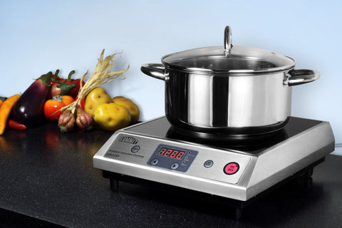 Summit Portable Single Zone Induction Cooktop with Black Ceran™ Smooth-Top Finish