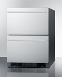 Summit Two-Drawer, Built-in, Frost-Free Refrigerator-Freezer