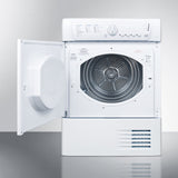 "Summit 24"" Wide 220V Condensing Dryer Built by Ariston in Europe for ADA Height Counters"