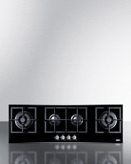 Summit 4-Burner Gas-on-Glass with Sealed Burners and Cast Iron Grates