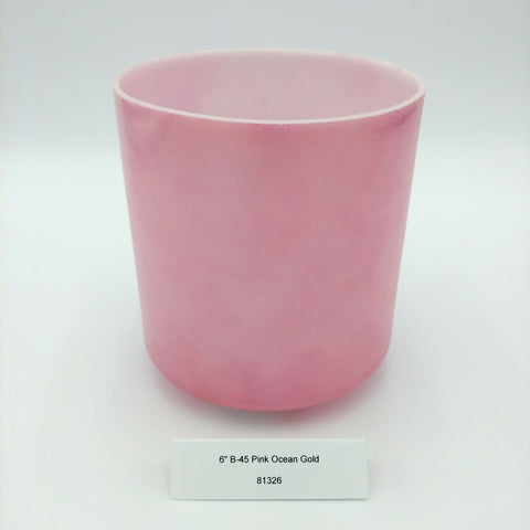 "6"" B -45 Pink Ocean Gold Crystal Alchemy Bowl"