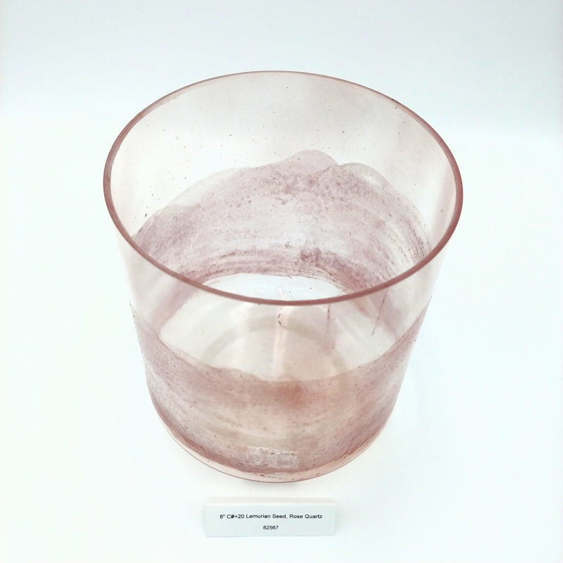 "8"" C# +20 Lemurian Seed, Rose Quartz Bowl"