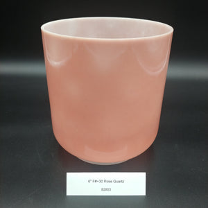 "6"" F# +30 Rose Quartz Bowl Crystal Alchemy Bowl"