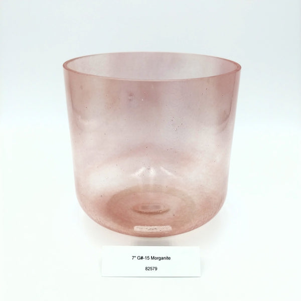 "7"" G# -15 Morganite Crystal Alchemy Bowl"