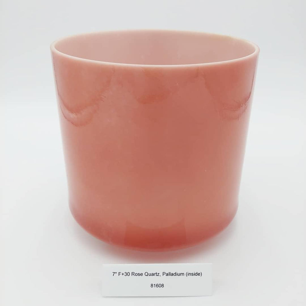 "7"" F +30 Rose Quartz, Palladium Crystal Alchemy Bowl"