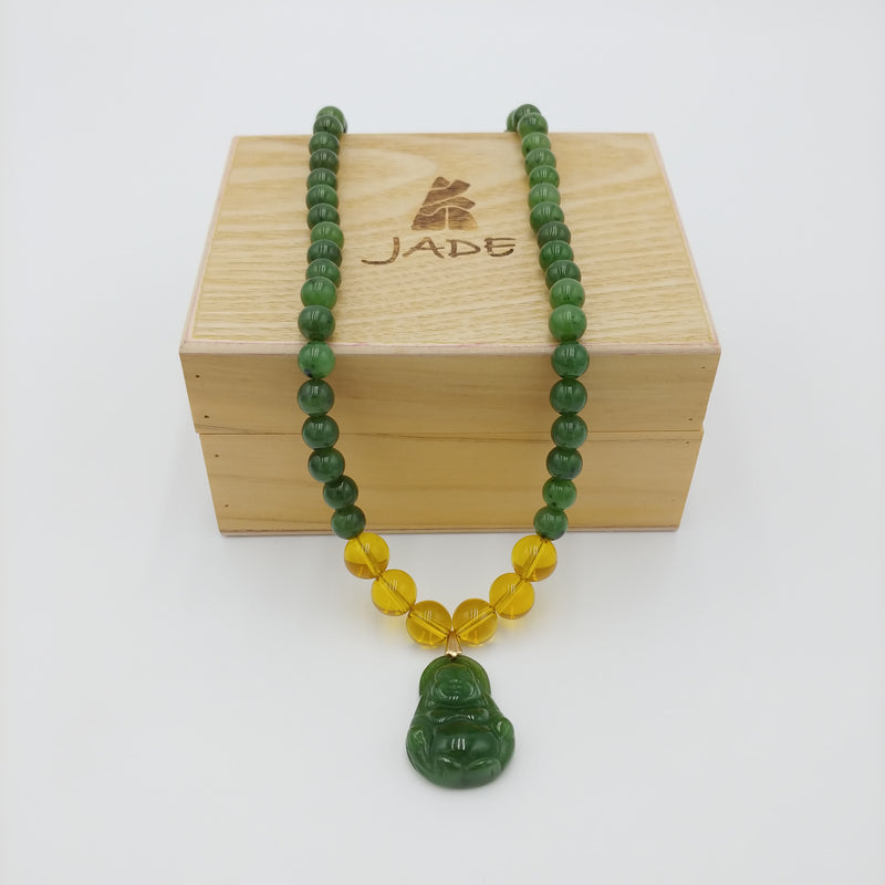 B.C. Jade Mala Buddha Prayer Beads