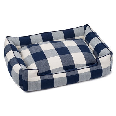 Plaid Navy Bed