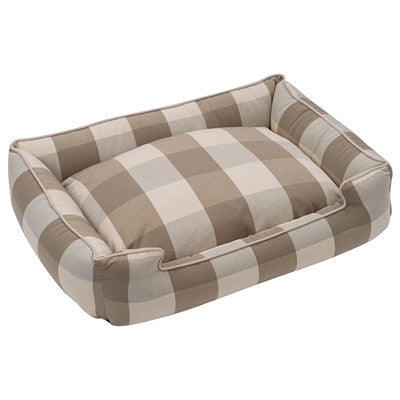 Plaid Tan Bed