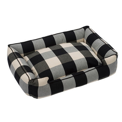 Plaid Black Bed