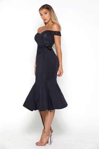 BELLE DRESS NAVY