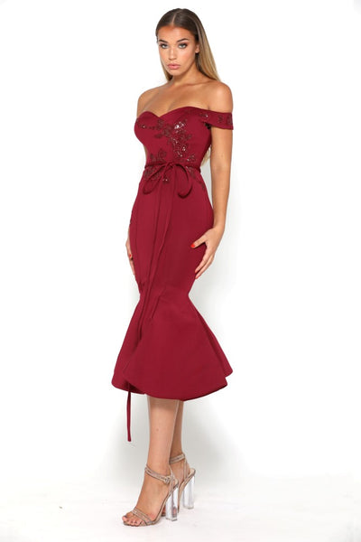 BELLE DRESS PLUM