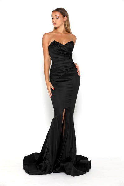 STELLA GOWN SPLIT BLACK