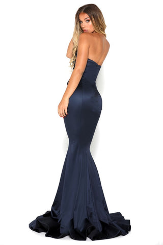 STELLA GOWN SPLIT NAVY
