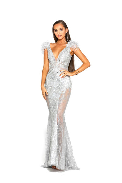 PS1986 FUFU GOWN SILVER